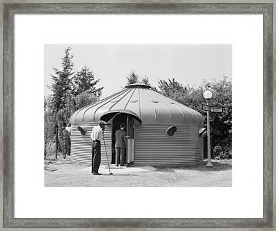 Dymaxion House, Designed By Futurist Framed Print by Everett