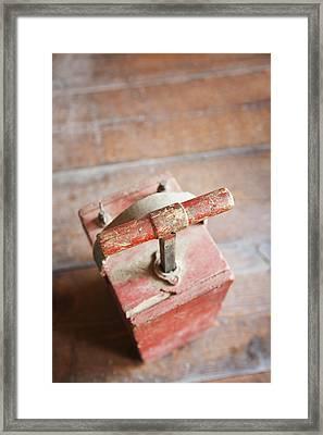 Dynamite Detonator Box. Plunger Handle Framed Print by Bryan Mullennix