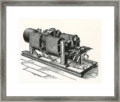 Dynamo Electric Machine Framed Print by Science Source