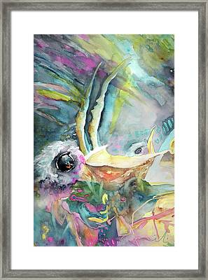 Dyptic Hungry 01 Framed Print by Miki De Goodaboom