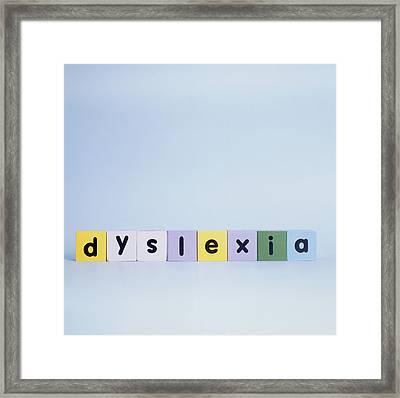 Dyslexia Framed Print by Cristina Pedrazzini