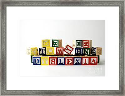 Dyslexia Framed Print by Photo Researchers, Inc.