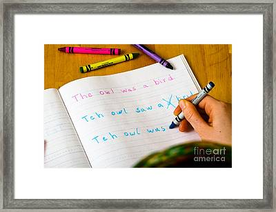 Dyslexia Testing Framed Print by Photo Researchers Inc