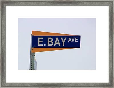 E. Bay Ave Framed Print by Heidi Smith