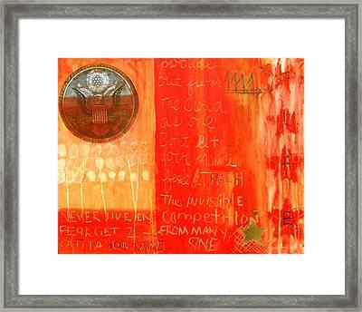 E Pluribus Unum Framed Print by Nik Olajuwon Shumway