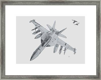 Ea-18g Growler Framed Print by Nicholas Linehan