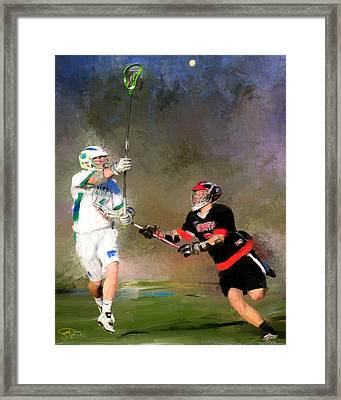 Eagan Defense Framed Print by Scott Melby