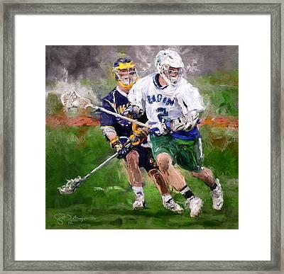 Eagan Midfielder Framed Print by Scott Melby