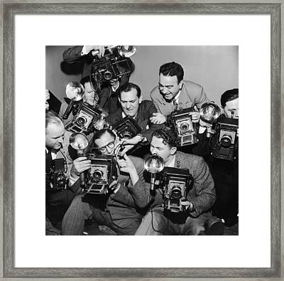 Eager Snappers Framed Print by Archive Photos