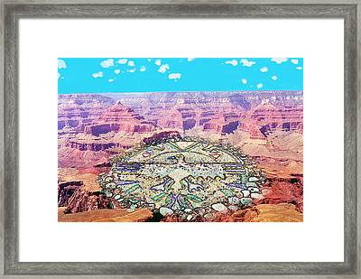 Eagle Circle Framed Print