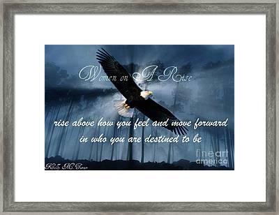 Eagle Flight Framed Print by Kelly Turner