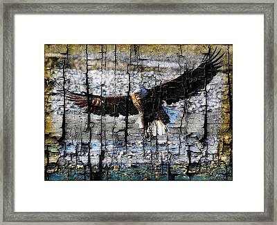 Framed Print featuring the digital art Eagle Imprint by Carrie OBrien Sibley