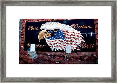 Eagle Mural Framed Print by Nick Kloepping
