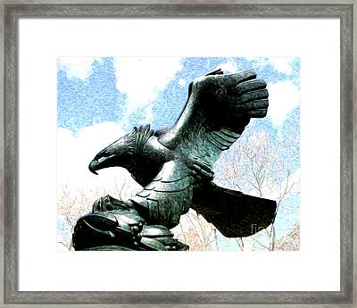 Eagle Of The East Coast Memorial Framed Print by Anne Raczkowski