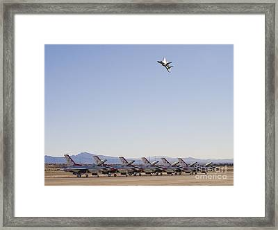 Eagle Over Thunderbirds Framed Print by Tim Mulina