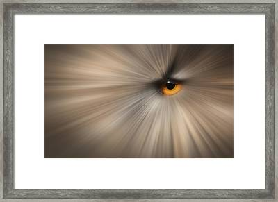 Eagle Owl Eye Abstract Framed Print by Andy Astbury