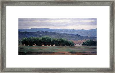 Eagle Ranch Framed Print by Victoria  Broyles