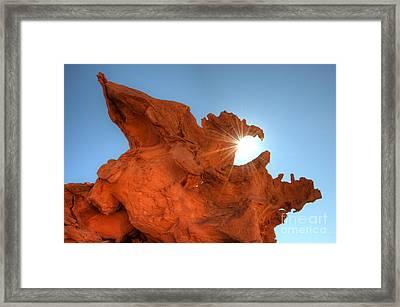 Eagle Rock Framed Print by Bob Christopher