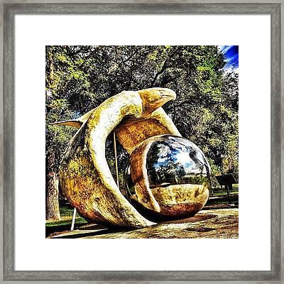 #eagle #statue #northdakota #bismarck Framed Print