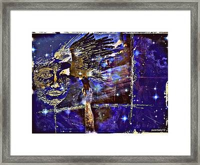 Eagle What Loves Heights And Have Confidence In Your Talon Framed Print by Paulo Zerbato