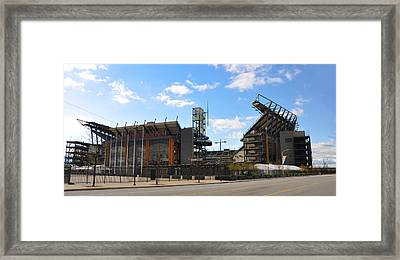 Eagles - The Linc Framed Print by Bill Cannon