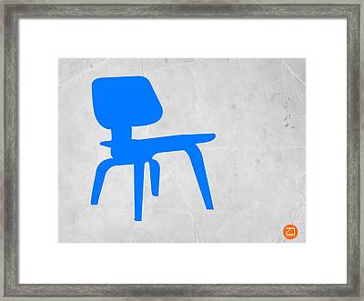 Eames Blue Chair Framed Print by Naxart Studio