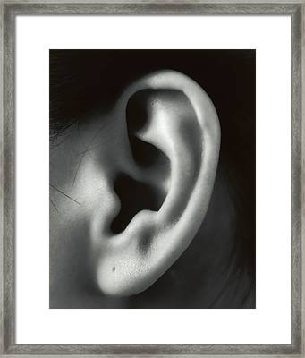 Ear Framed Print by Cristina Pedrazzini