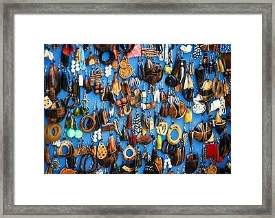 Ear Rings  Framed Print by Anjeh Ambroise