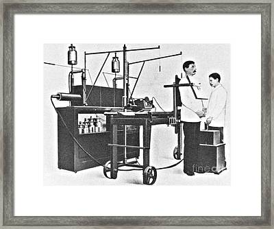 Early 20th Century X-ray Machine Framed Print