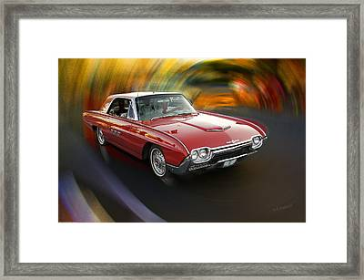 Early 60s Red Thunderbird Framed Print by Mick Anderson
