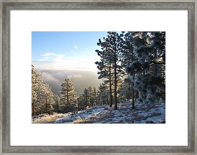 Early Am Above Boulder-photo Framed Print