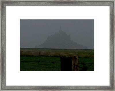 Framed Print featuring the photograph Early Am Approach To Le Mont-michel by Frank Wickham