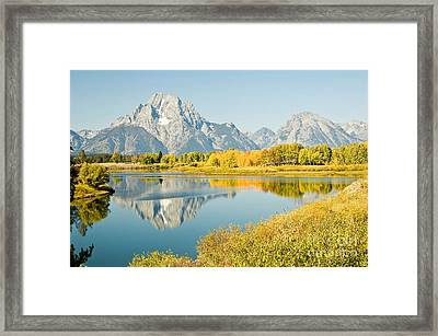Early Autumn At Oxbow Bend Framed Print by Bob and Nancy Kendrick