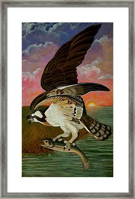 Early Catch-sunrise On The Ogeechee Framed Print by Teresa Grace Mock