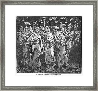 Early Christian Marriage Framed Print by Granger