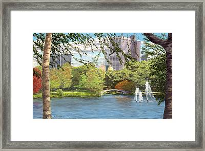 Early Color On Esplanade Framed Print by William Frew