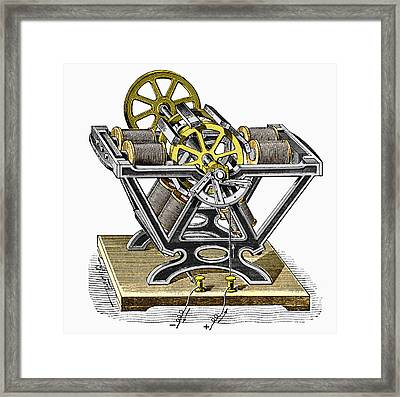 Early Electric Motor, 1834 Framed Print by Sheila Terry