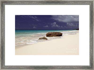 Early Evening At Surf Side Beach Framed Print by John Gaffen