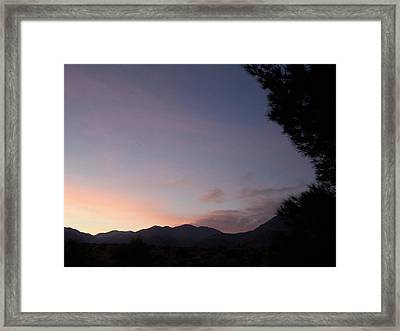 Early Evening Sky Framed Print