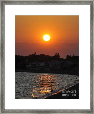 Framed Print featuring the photograph Early Evening Sunset by Cindy Lee Longhini
