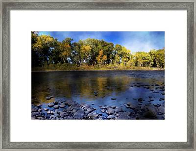 Early Fall At The Headwaters Of The Rio Grande Framed Print by Ellen Heaverlo