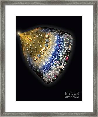 Early History Of The Universe Framed Print by Henning Dalhoff and SPL and Photo Researchers