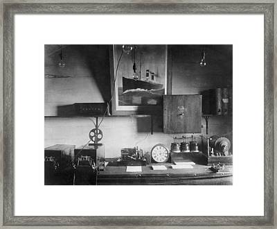 Early Marconi Apparatus Framed Print