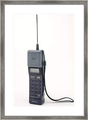 Early Mobile Phone Framed Print