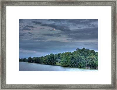 Early Moon Framed Print by Barry Jones