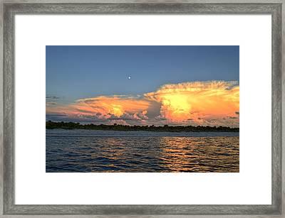 Early Moon Framed Print by Bob Jackson