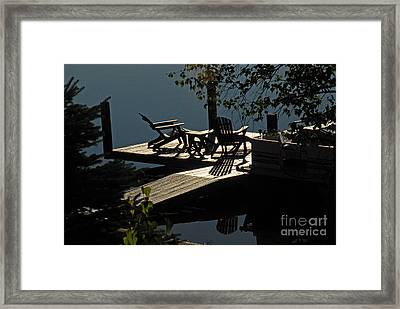Framed Print featuring the photograph Early Morning At The Lake by Cindy Manero