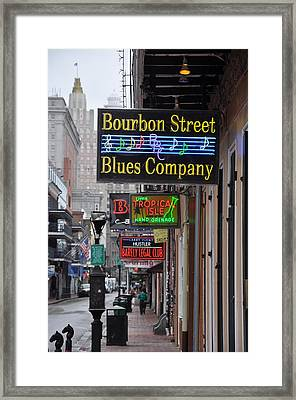 Early Morning Bourbon Street Framed Print by Bill Cannon