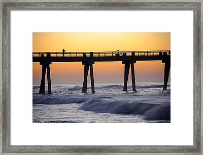 Framed Print featuring the photograph Early Morning Catch by Renee Hardison