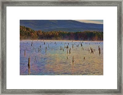 Early Morning Color Of Lake Wilhelmina-arkansas Framed Print by Douglas Barnard